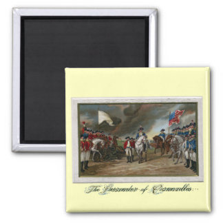 Surrender of Lord Cornwallis at Yorktown 2 Inch Square Magnet