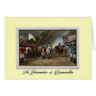 Surrender of Lord Cornwallis at Yorktown Card