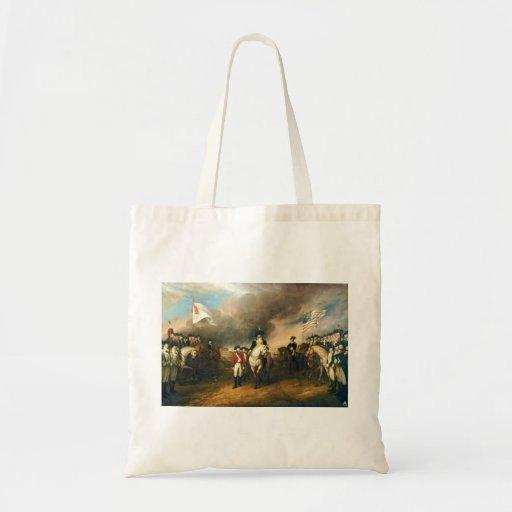 Surrender of Lord Cornwallis by John Trumbull 1820 Canvas Bag