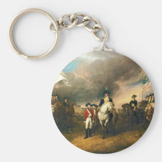 Surrender of Lord Cornwallis by John Trumbull 1820 Basic Round Button Keychain