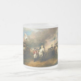 Surrender of Lord Cornwallis by John Trumbull 1820 Frosted Glass Coffee Mug