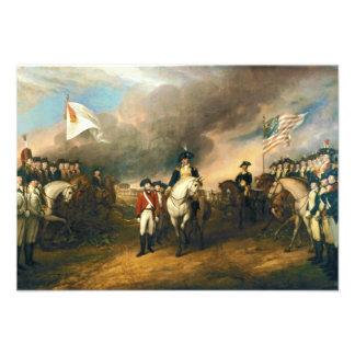 Surrender of Lord Cornwallis by John Trumbull 1820 Invitation