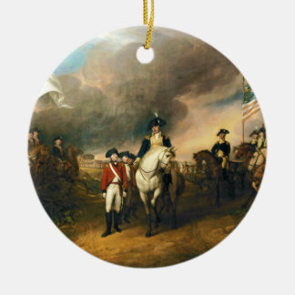 Surrender of Lord Cornwallis by John Trumbull 1820 Double-Sided Ceramic Round Christmas Ornament