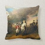Surrender of Lord Cornwallis by John Trumbull 1820 Throw Pillow