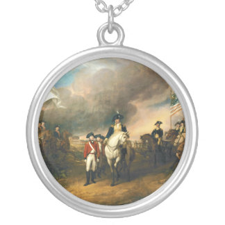 Surrender of Lord Cornwallis by John Trumbull 1820 Silver Plated Necklace