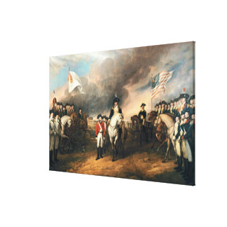 SURRENDER OF LORD CORNWALLIS by John Trumbull Canvas Print