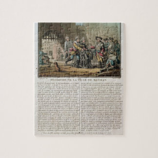 Surrender of the city of Madras, 1746, engraved by Jigsaw Puzzle