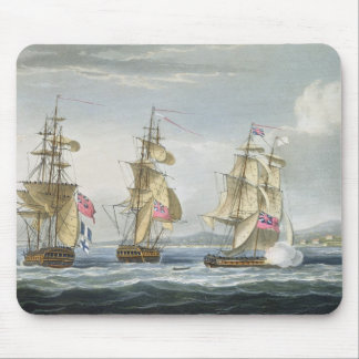 Surrender of the fort of Tamatave, engraved by T. Mouse Pad