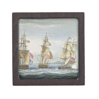 Surrender of the fort of Tamatave, engraved by T. Premium Trinket Box
