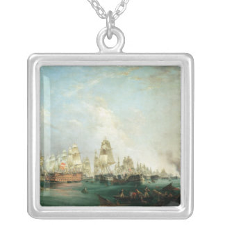 Surrender of the 'Santissima Trinidad to Silver Plated Necklace