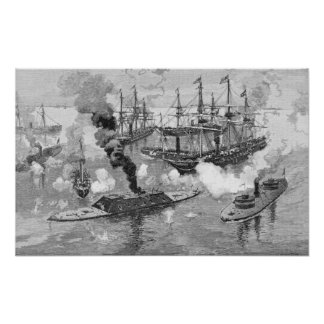 Surrender of the 'Tennessee', Battle of Mobile Poster