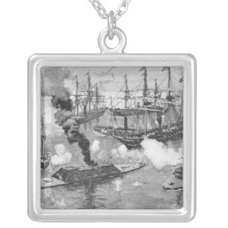 Surrender of the 'Tennessee', Battle of Mobile Square Pendant Necklace
