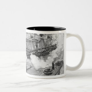 Surrender of the 'Tennessee', Battle of Mobile Two-Tone Coffee Mug
