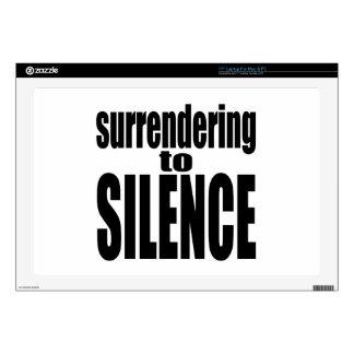 surrender silence vote election black trump hillar laptop skin
