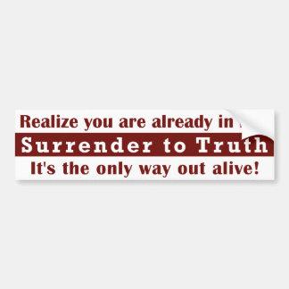 Surrender to Truth Bumper Sticker