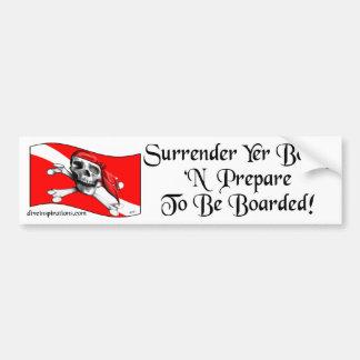 Surrender Yer Booty Bumpersticker Bumper Stickers