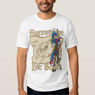 Surrender Yer Booty Pirate Treasure Map T Shirt