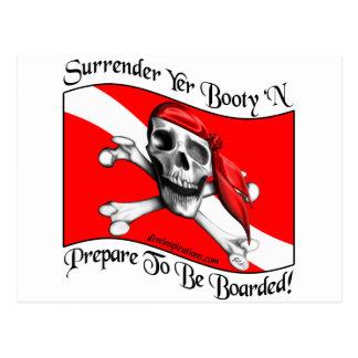Surrender Yer Booty Postcard