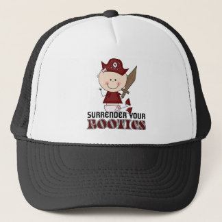 Surrender Your Booties Pirate Trucker Hat