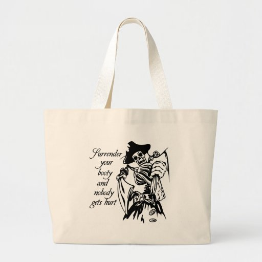 Surrender Your Booty Pirate Tote Bag