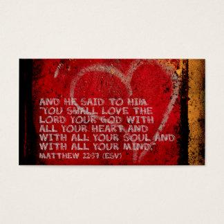 Surrendering All Matthew 22:37 Scripture Photo Art Business Card