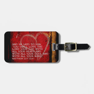 Surrendering All Matthew 22:37 Scripture Photo Art Tag For Luggage