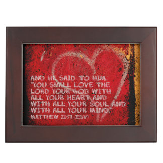 Surrendering All Matthew 22:37 Scripture Photo Art Memory Box