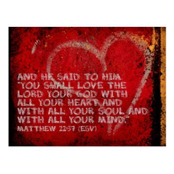 Surrendering All Matthew 22:37 Scripture Photo Art Post Card