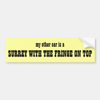 Surrey con la franja en pegatina para el parachoqu etiqueta de parachoque