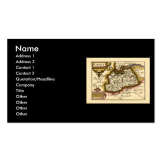 Surrey County Map, England Double-Sided Standard Business Cards (Pack Of 100)