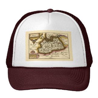 Surrey County Map, England Trucker Hat