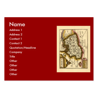 Surrey County Map, England Large Business Card