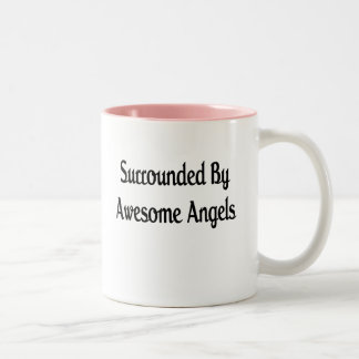 Surround By Awesome Angels Two-Tone Coffee Mug