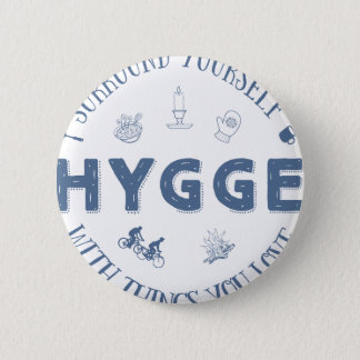 Surround Yourself w. Hygge (Dark Blue text) Button