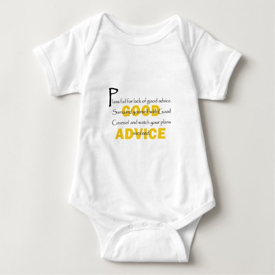 Surround Yourself With Good Counsel Baby Bodysuit