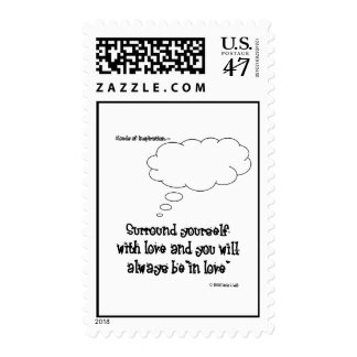 surround yourself with love postage stamp