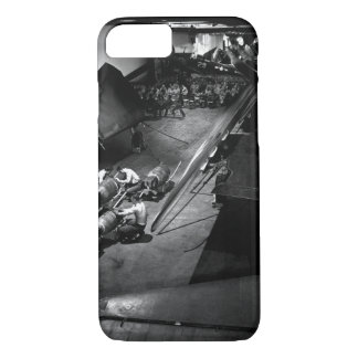 Surrounded by F6F's, ordnancemen work on_War Image iPhone 7 Case