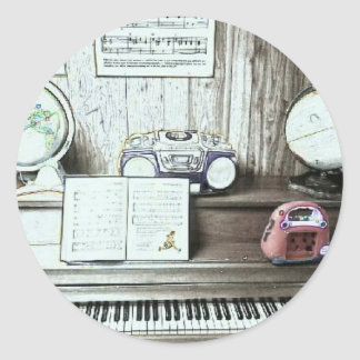 Surrounded by Music Classic Round Sticker