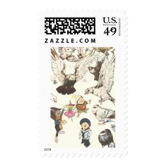 Surrounded by Pigeons Stamps