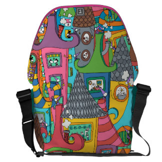 Surrounded by stories commuter bags