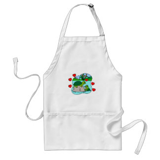 Surrounded By Turtle Love Adult Apron