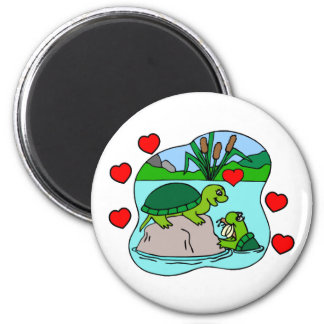 Surrounded By Turtle Love Magnet
