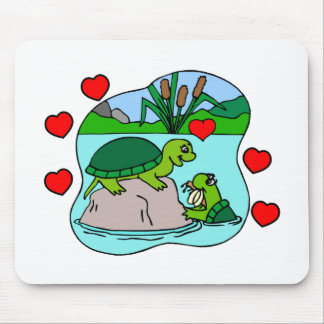 Surrounded By Turtle Love Mouse Pad