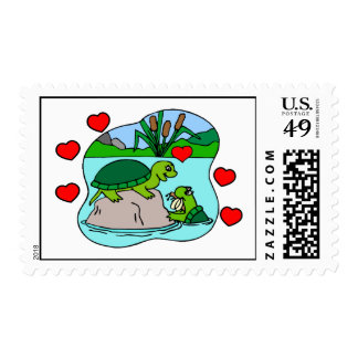 Surrounded By Turtle Love Postage Stamps