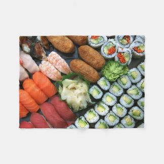 Surtido de favoritos japoneses del sushi manta de forro polar