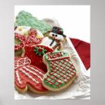 surtido de galletas festivas del día de fiesta póster