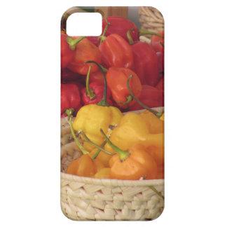 Surtido de pimientas de chiles coloridas funda para iPhone SE/5/5s