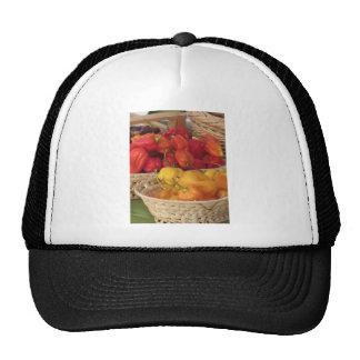 Surtido de pimientas de chiles coloridas gorras