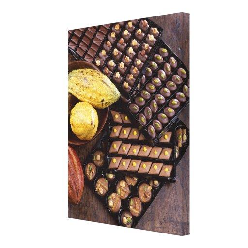Surtido del chocolate para el navidad para el uso  impresiones de lienzo