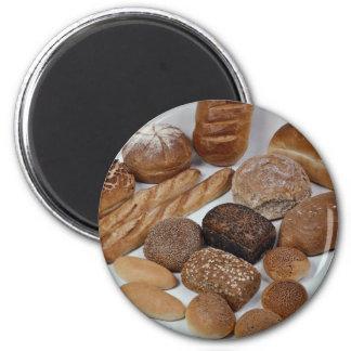 Surtido del pan imán para frigorífico